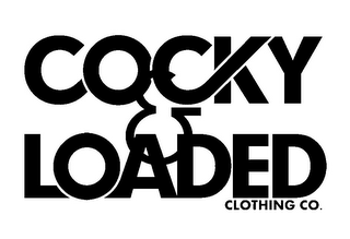mark for COCKY & LOADED CLOTHING CO., trademark #85638436
