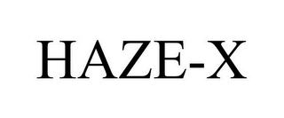 mark for HAZE-X, trademark #85638490