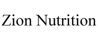 mark for ZION NUTRITION, trademark #85638931
