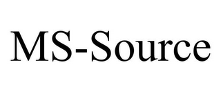 mark for MS-SOURCE, trademark #85639053