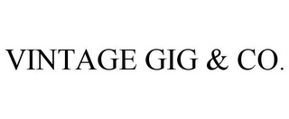 mark for VINTAGE GIG & CO., trademark #85639285