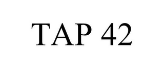 mark for TAP 42, trademark #85639354