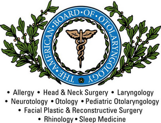 mark for THE · AMERICAN · BOARD · OF · OTOLARYNGOLOGY · ALLERGY · HEAD & NECK SURGERY · LARYNGOLOGY · NEUROTOLOGY · OTOLOGY · PEDIATRIC OTOLARYNGOLOGY · FACIAL PLASTIC & RECONSTRUCTIVE SURGERY · RHINOLOGY · SLEEP MEDICINE, trademark #85639850
