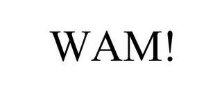mark for WAM!, trademark #85639878