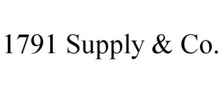 mark for 1791 SUPPLY & CO., trademark #85639938
