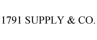 mark for 1791 SUPPLY & CO., trademark #85640021