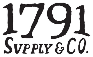 mark for 1791 SUPPLY & CO., trademark #85640029