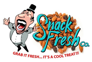 mark for SNACK FRESH CO. GRAB IT FRESH...IT'S A COOL TREAT!!!, trademark #85640087