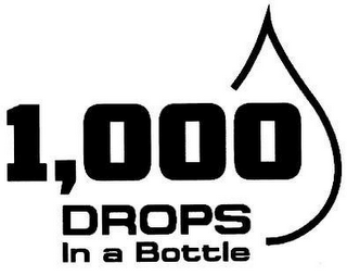 mark for 1,000 DROPS IN A BOTTLE, trademark #85640520