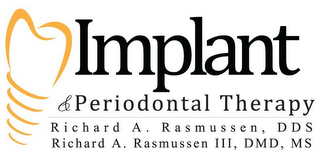 mark for IMPLANT & PERIODONTAL THERAPY RICHARD A. RASMUSSEN, DDS RICHARD RASMUSSEN III, DMD, MS, trademark #85640537