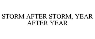 mark for STORM AFTER STORM, YEAR AFTER YEAR, trademark #85640873