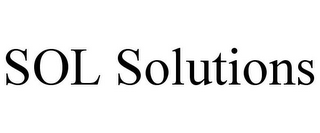 mark for SOL SOLUTIONS, trademark #85641027