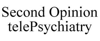 mark for SECOND OPINION TELEPSYCHIATRY, trademark #85641713