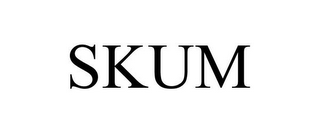 mark for SKUM, trademark #85641780