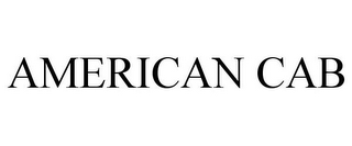 mark for AMERICAN CAB, trademark #85643346