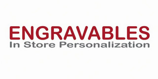 mark for ENGRAVABLES IN STORE PERSONALIZATION, trademark #85643511
