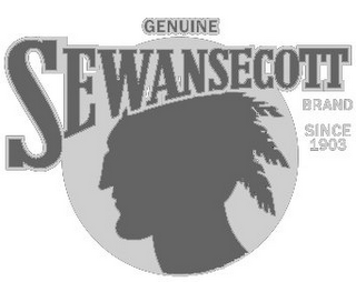 mark for GENUINE SEWANSECOTT BRAND SINCE 1903, trademark #85643603