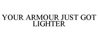 mark for YOUR ARMOUR JUST GOT LIGHTER, trademark #85643851
