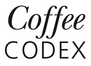 mark for COFFEE CODEX, trademark #85644466