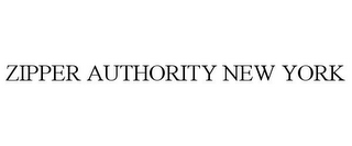 mark for ZIPPER AUTHORITY NEW YORK, trademark #85644990