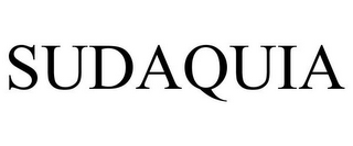 mark for SUDAQUIA, trademark #85645080