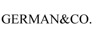 mark for GERMAN&CO., trademark #85645404