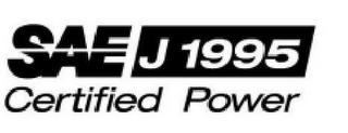 mark for SAE J1995 CERTIFIED POWER, trademark #85645567