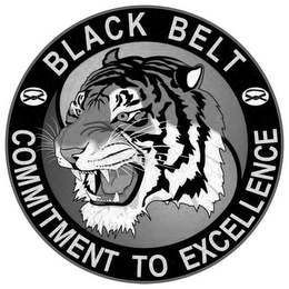 mark for BLACK BELT COMMITMENT TO EXCELLENCE, trademark #85646973