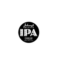 mark for JOHNNY'S AMERICAN, IPA, PREMIUM MICROBREW, INDIA PALE ALE, trademark #85647678
