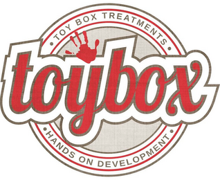 mark for TOYBOX TREATMENTS TOYBOX HANDS ON DEVELOPMENT, trademark #85647730