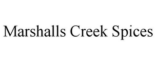 mark for MARSHALLS CREEK SPICES, trademark #85647836