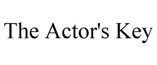mark for THE ACTOR'S KEY, trademark #85648343