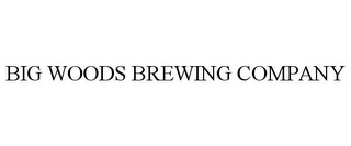 mark for BIG WOODS BREWING COMPANY, trademark #85649195