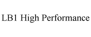 mark for LB1 HIGH PERFORMANCE, trademark #85649251