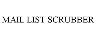 mark for MAIL LIST SCRUBBER, trademark #85649335