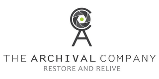 mark for THE ARCHIVAL COMPANY RESTORE AND RELIVE, trademark #85649619