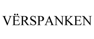 mark for VËRSPANKEN, trademark #85650117