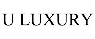 mark for U LUXURY, trademark #85650537