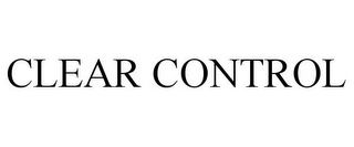 mark for CLEAR CONTROL, trademark #85650827