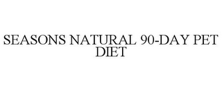 mark for SEASONS NATURAL 90-DAY PET DIET, trademark #85651051