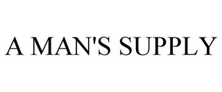 mark for A MAN'S SUPPLY, trademark #85652047