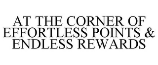 mark for AT THE CORNER OF EFFORTLESS POINTS & ENDLESS REWARDS, trademark #85652118