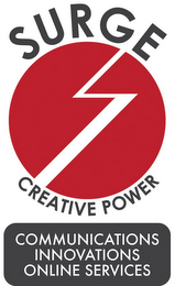 mark for SURGE CREATIVE POWER COMMUNICATIONS INNOVATIONS ONLINE SERVICES, trademark #85653026