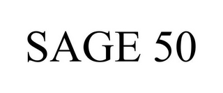 mark for SAGE 50, trademark #85653174