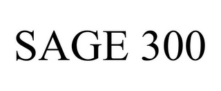 mark for SAGE 300, trademark #85653250