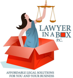 mark for LAWYER IN A BOX P.C. AFFORDABLE LEGAL SOLUTIONS FOR YOU AND YOUR BUSINESS, trademark #85653622