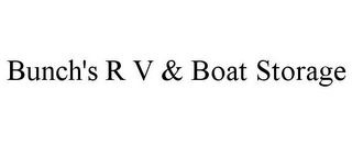 mark for BUNCH'S R V & BOAT STORAGE, trademark #85653647