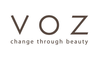 mark for VOZ CHANGE THROUGH BEAUTY, trademark #85653950