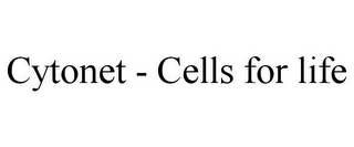 mark for CYTONET - CELLS FOR LIFE, trademark #85654379