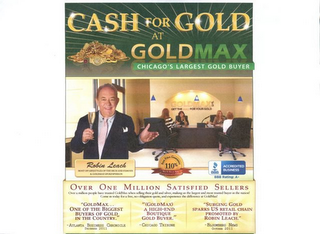 mark for CASH FOR GOLD AT GOLDMAX CHICAGO'S LARGEST GOLD BUYER, trademark #85654421